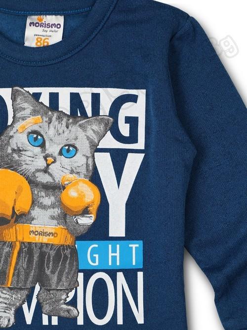 """Блуза от намъхено трико """"Boxing"""""""